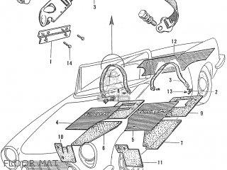 Honda S600 Convertible General Export As285 Floor Mat