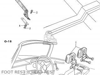 Honda S600 Convertible General Export As285 Foot Rest ~ Head Rest