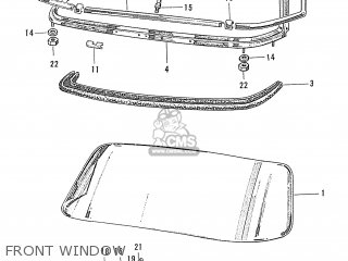 Honda S600 Convertible General Export As285 Front Window