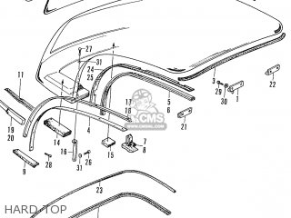 Honda S600 Convertible General Export As285 Hard Top