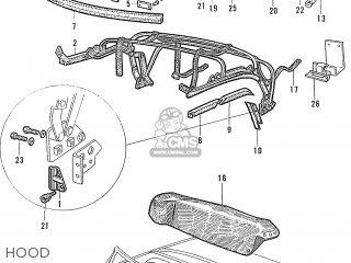 Honda S600 Convertible General Export As285 Hood