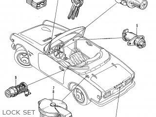 Honda S600 Convertible General Export As285 Lock Set