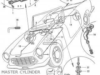 Honda S600 Convertible General Export As285 Master Cylinder