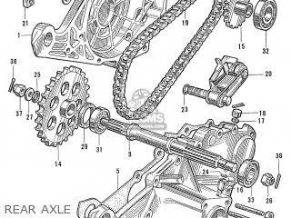 Honda S600 Convertible General Export As285 Rear Axle