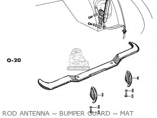 Honda S600 Convertible General Export As285 Rod Antenna ~ Bumper Guard ~ Mat