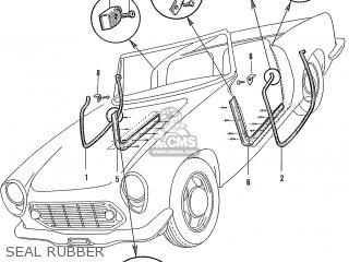Honda S600 Convertible General Export As285 Seal Rubber