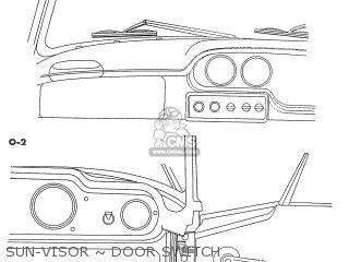 Honda S600 Convertible General Export As285 Sun-visor ~ Door Switch