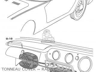 Honda S600 Convertible General Export As285 Tonneau Cover ~ Radio