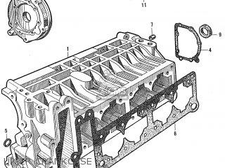 Honda S600 Convertible General Export As285 Upper Crankcase