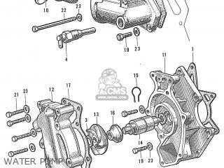 Honda S600 Convertible General Export As285 Water Pump