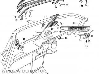 Honda S600 Convertible General Export As285 Window Deflector