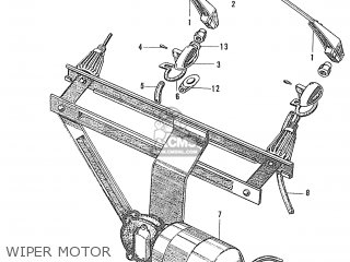Honda S600 Convertible General Export As285 Wiper Motor