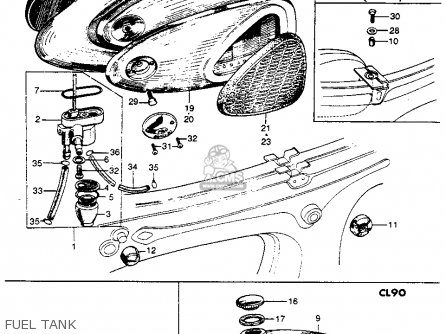 Honda S90 Parts Diagram on volvo snowmobile