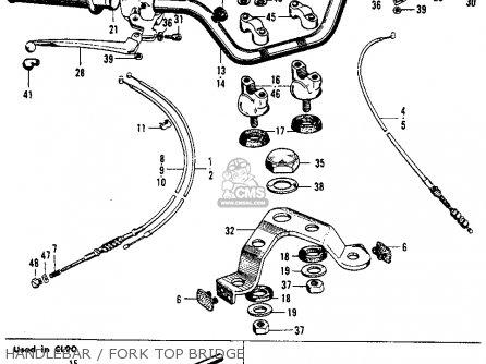 Honda S90 Super 1964 Usa Handlebar   Fork Top Bridge