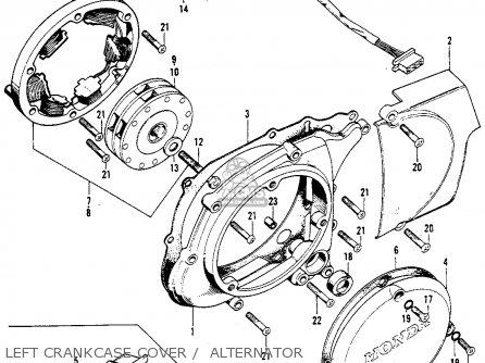 honda s90 super 1964 usa parts lists and schematicscamshaft valve · honda s90 super 1964 usa left crankcase cover alternator left crankcase cover alternator