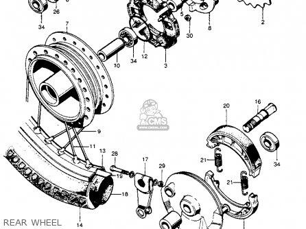 Honda S90 Super 1964 Usa Rear Wheel
