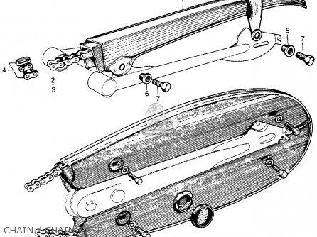 Honda S90 Super 90 1964 u s a  Chain   Chain Case