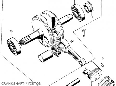 Honda S90 Super 90 1964 u s a  Crankshaft   Piston