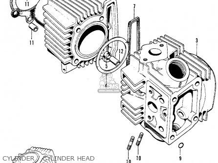 Honda S90 Super 90 1964 u s a  Cylinder   Cylinder Head