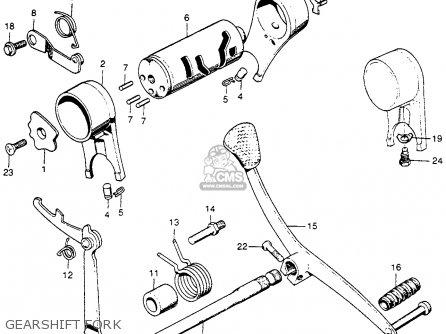 Honda S90 Super 90 1964 u s a  Gearshift Fork