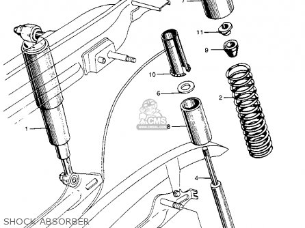 Honda S90 Super 90 1964 u s a  Shock Absorber