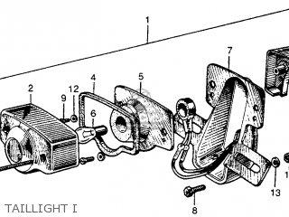 Honda S90 Super 90 1964 u s a  Taillight I