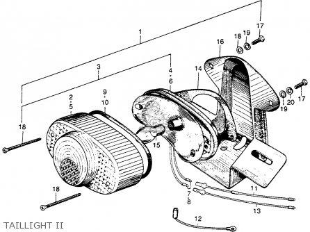 Honda S90 Super 90 1964 u s a  Taillight Ii