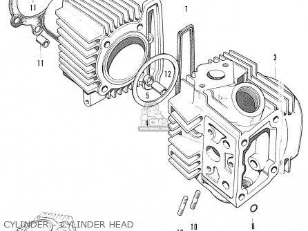 Honda S90 Super Sport General Export Cylinder - Cylinder Head
