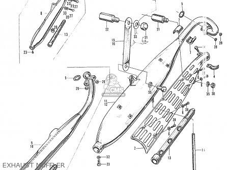 Honda S90 Super Sport General Export Exhaust Muffler