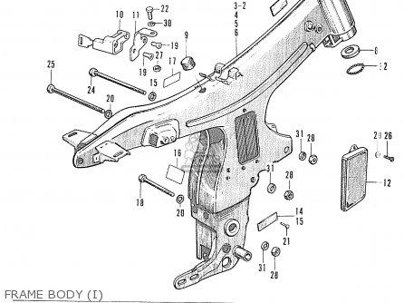 1995 honda civic wiring harness honda s90 super sport general export parts list ... honda s90 wiring harness #12