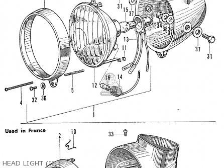Honda S90 Super Sport General Export Head Light iii