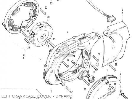 honda s90 super sport general export parts lists and schematicscam shaft valve · honda s90 super sport general export left crankcase cover dynamo