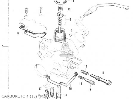 Honda S90 Super Sport general Export Model Carburetor ii mikuni