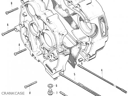 Honda S90 Super Sport general Export Model Crankcase