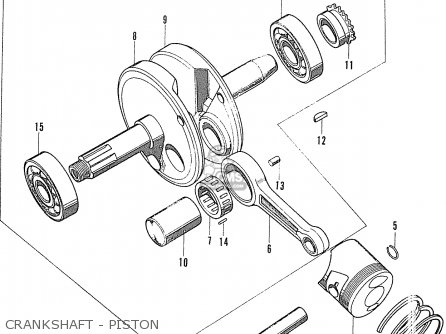 Honda S90 Super Sport general Export Model Crankshaft - Piston