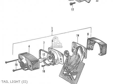 Honda S90 Super Sport General Export Tail Light ii