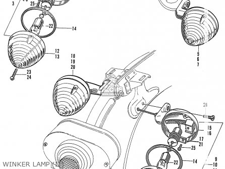 Honda S90 Super Sport General Export Winker Lamp ii