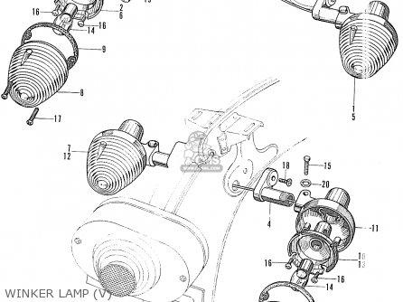 Honda S90 Super Sport General Export Winker Lamp v