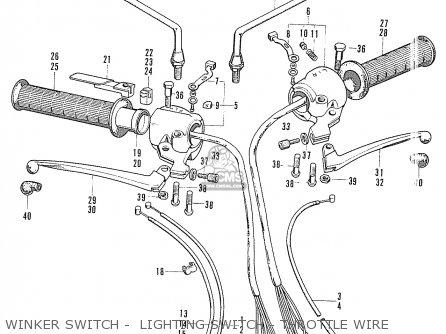 Honda S90 Super Sport General Export Winker Switch -  Lighting Switch - Throttle Wire