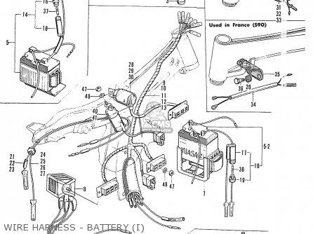 Honda S90 Super Sport General Export Wire Harness - Battery i