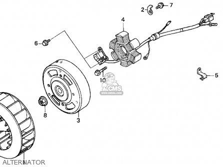 Honda Sa50 50 Sr 1995 s Usa Alternator