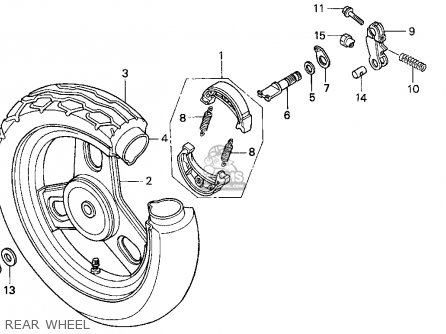 Honda Sa50 50 Sr 1995 s Usa Rear Wheel