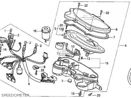 Honda Sa50 50 Sr 1995 s Usa Speedometer