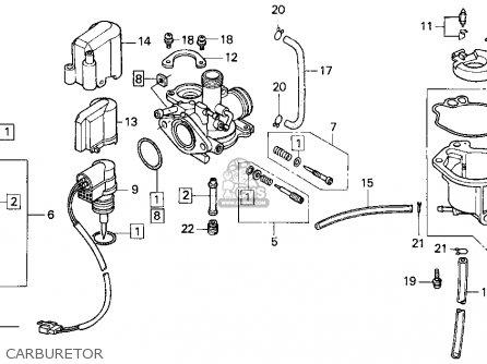 Honda Sa50 50 Sr 1995 Usa Carburetor