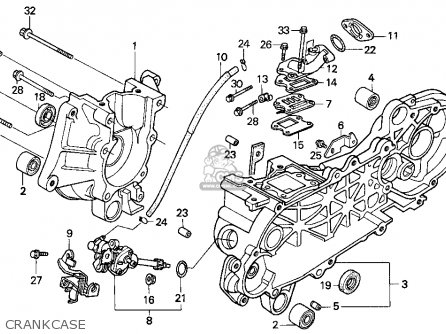 Honda Sa50 50 Sr 1995 Usa Crankcase