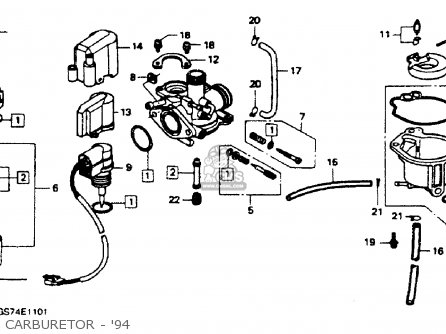 honda elite 50 wiring diagram with Small Engine Mag O Wiring Diagram on Honda Ch 80 Wiring Diagram also General Assembly furthermore 49cc Scooter Carburetor further General Assembly as well Scooter Carburetor Problems.