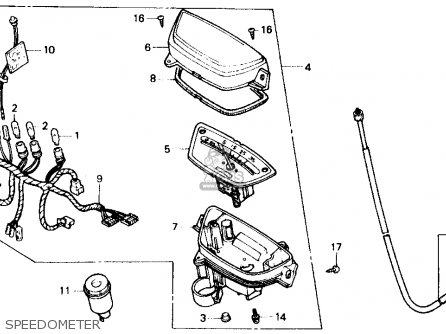 Honda Sb50 Es 1988 Usa Speedometer