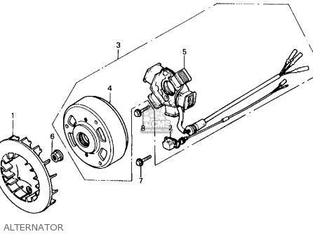 ignition diagram � honda sb50 es elite e 1988 j usa alternator