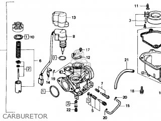 Honda Sb50 Es Elite E 1988 j Usa Carburetor