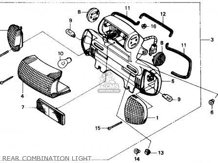 Honda Sb50 Es Elite E 1988 j Usa Rear Combination Light